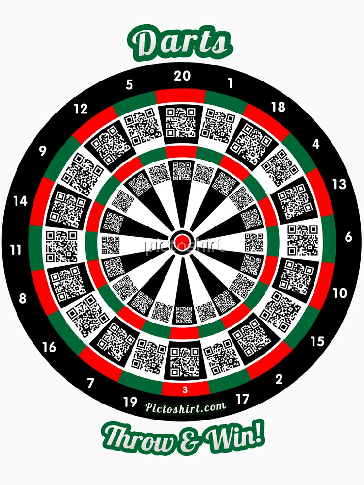 Interactive darts, family and friends game t-shirt by pictoshirt