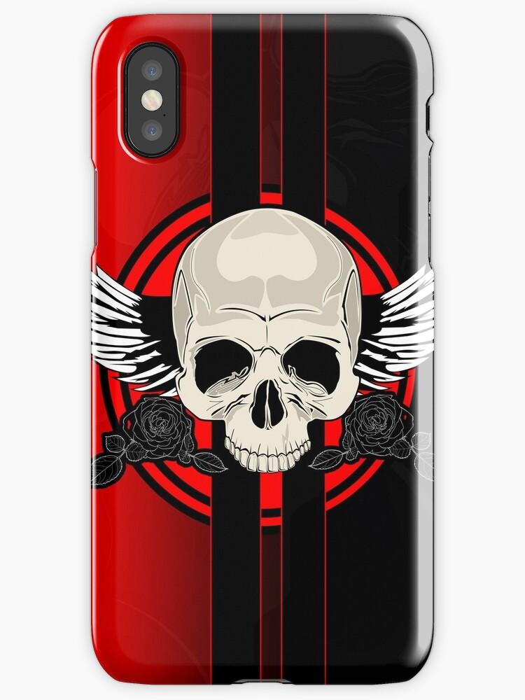 Wing Skull - RED by Adam Santana
