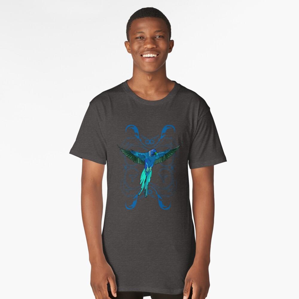 Blue Parrot Long T-Shirt Front