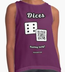 Interactive dice game, family and friends dice t-Shirt Contrast Tank