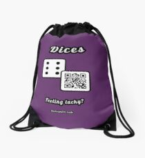 Interactive dice game, family and friends dice t-Shirt Drawstring Bag
