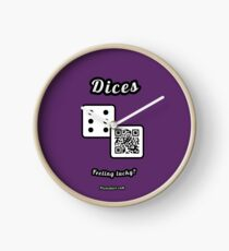 Interactive dice game, family and friends dice t-Shirt Clock