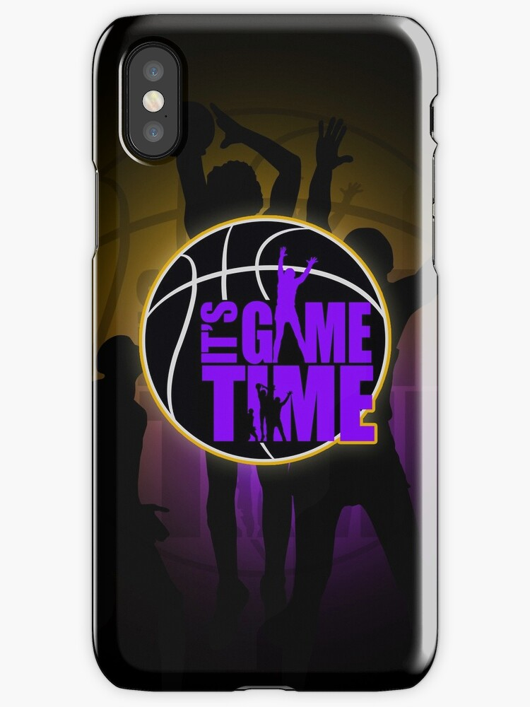 It's Game Time - Purple & Gold by Adam Santana