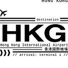 Hong Kong International Airport call letters by Leah Biernacki