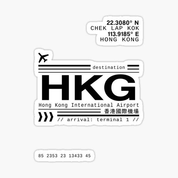 Hong Kong International Airport call letters Sticker