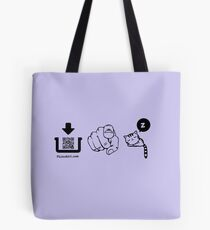 Interactive pictogram game tshirt for family and friends Tote Bag