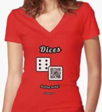 Interactive dice game, family and friends dice t-Shirt Women's Fitted V-Neck T-Shirt