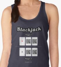 Interactive blackjack t-shirt, family and friends card game Women's Tank Top