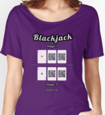 Interactive blackjack t-shirt, family and friends card game Women's Relaxed Fit T-Shirt