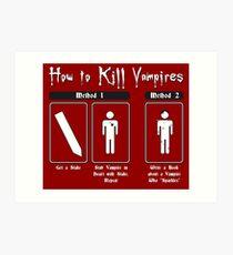 How to Kill Vampires Art Print