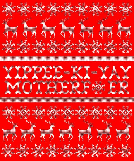 die hard yippee ki yay ugly christmas sweater by shaggylocks