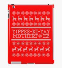 Die Hard Yippee-Ki-Yay Ugly Christmas Sweater iPad Case/Skin