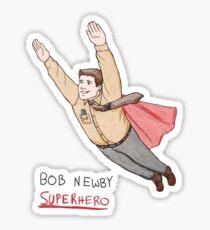 Bob Newby Superhero Sticker