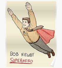 Bob Newby Superhero Poster