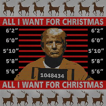 Trump in Prison Ugly Christmas Sweater by shaggylocks