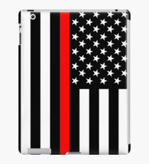 Firefighters Red Line US Flag iPad Case/Skin