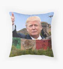 Donald Trump - Great Wall of China Throw Pillow