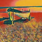 Boat on beach by Terry Collett