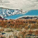 The Neddles and sea. by Terry Collett
