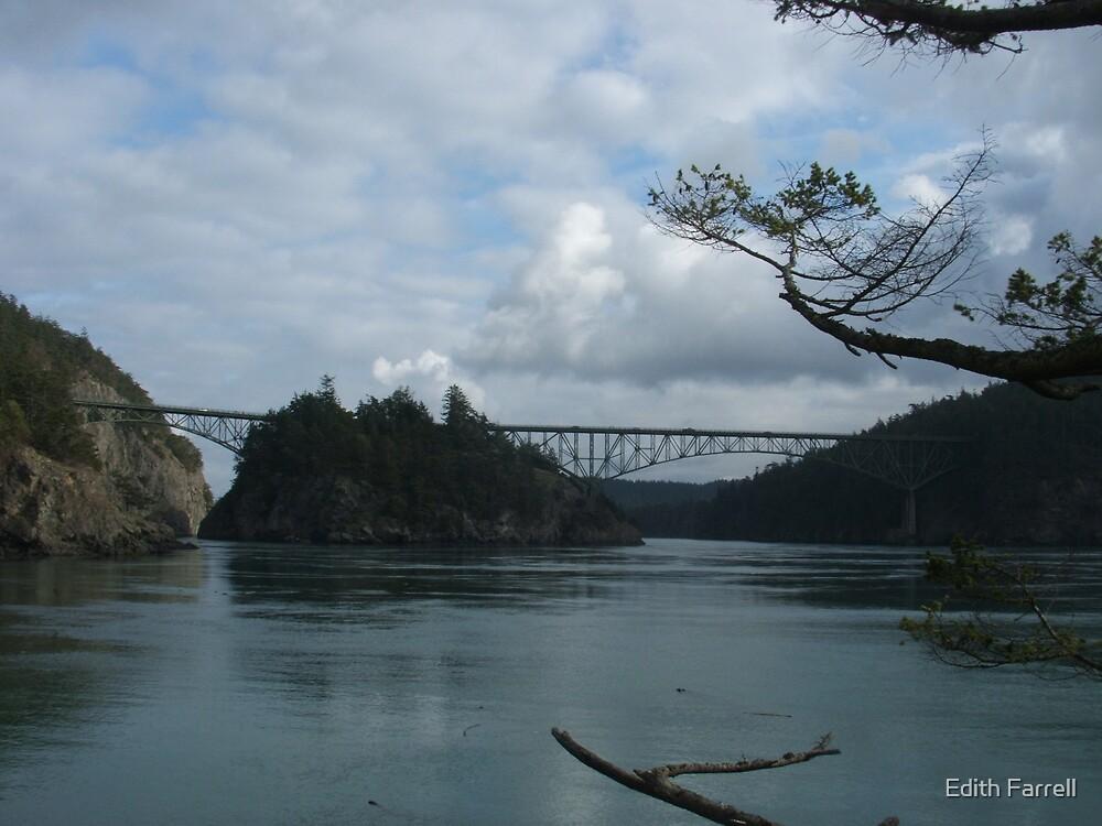Deception Pass Bridge by Edith Farrell
