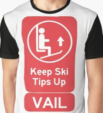 Ski Tips Up! It's time to ski! Vail Colorado! Graphic T-Shirt