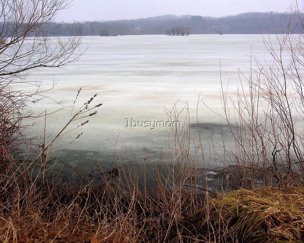 ice covered reservoir by 1busymom