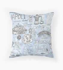 Doodles from Napoli Throw Pillow