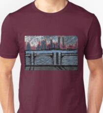 skyline with whitman quote Unisex T-Shirt