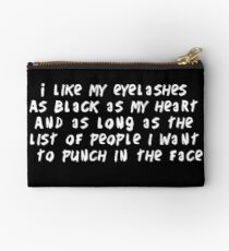 Eyelashes black and long Zipper Pouch