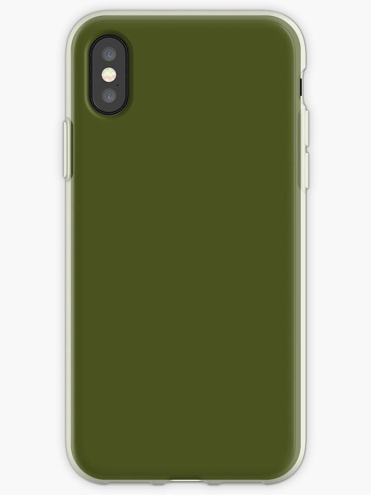 83d55e83507 Vinilos y fundas para iPhone «Decoración de color sólido verde oliva ...