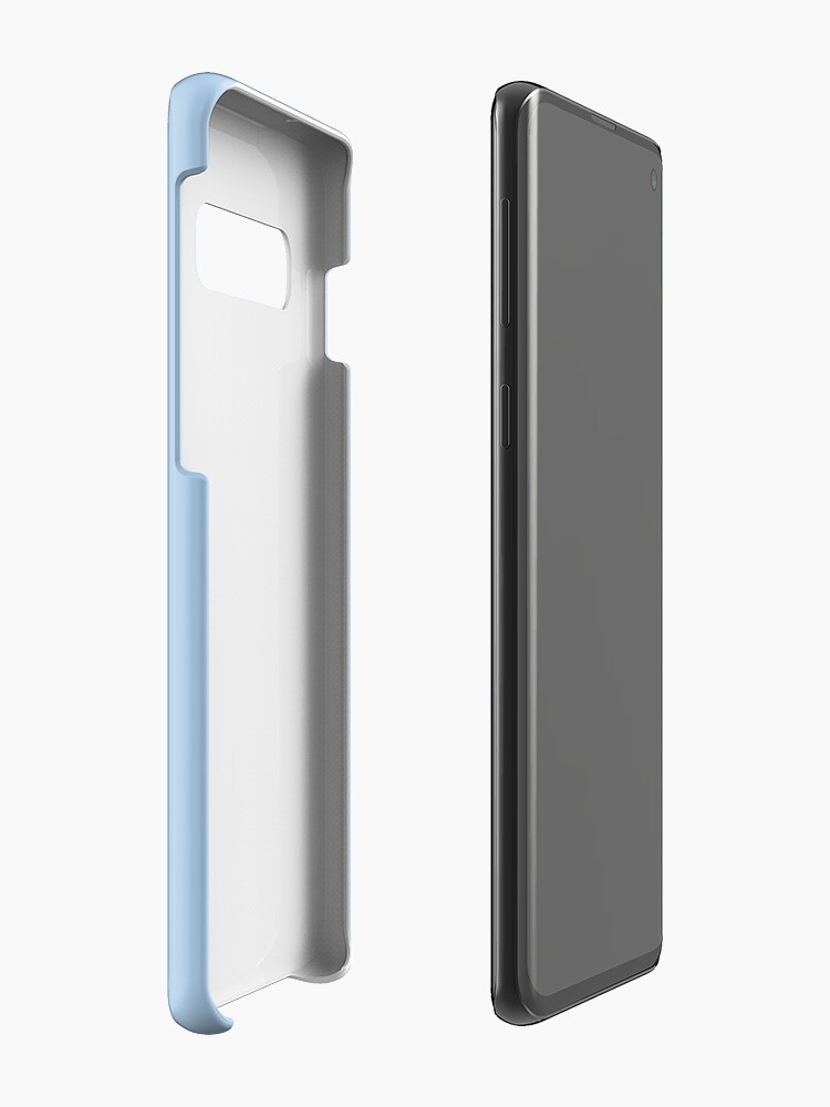 Alternate view of Baby Blue Solid Color Decor Case & Skin for Samsung Galaxy