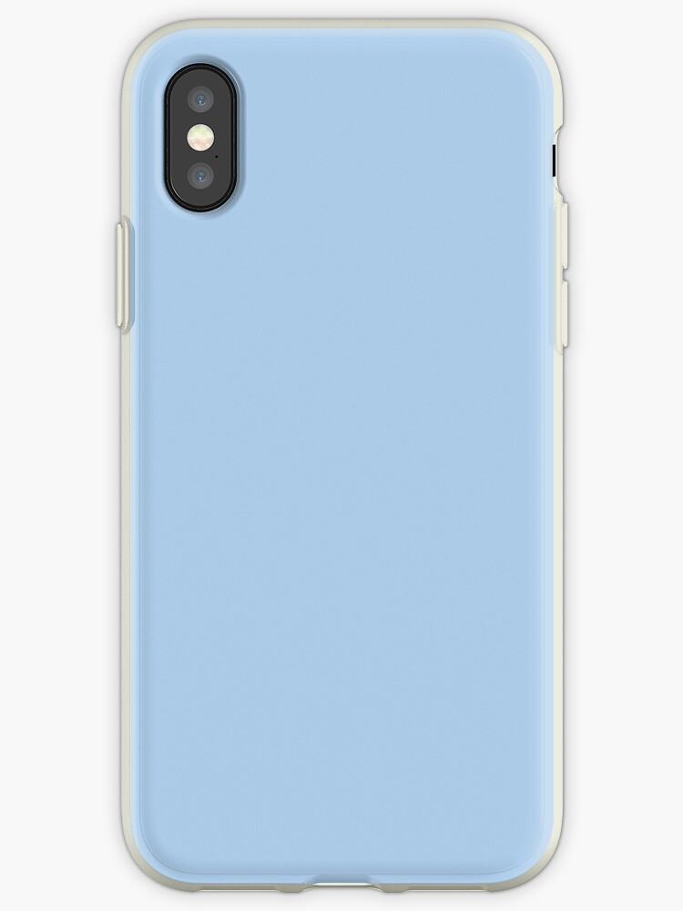 outlet store 36d57 ea806 'Baby Blue Solid Color Decor' iPhone Case by Garaga