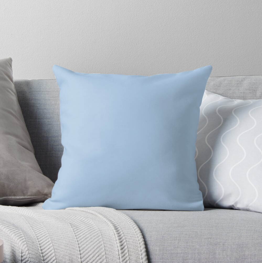 Baby Blue Solid Color Decor Throw Pillow