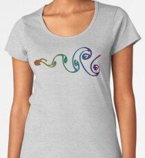 Colorful Vortex Street Premium Scoop T-Shirt