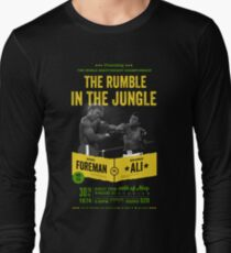 Ali vs Foreman Rumble in the Jungle Long Sleeve T-Shirt