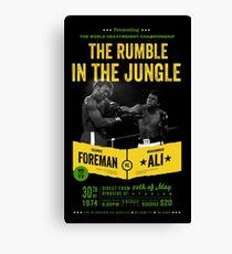 Ali gegen Foreman Rumble im Dschungel Leinwanddruck