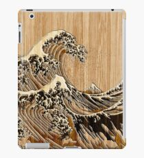The Great Hokusai Wave in Bamboo Inlay Style iPad Case/Skin