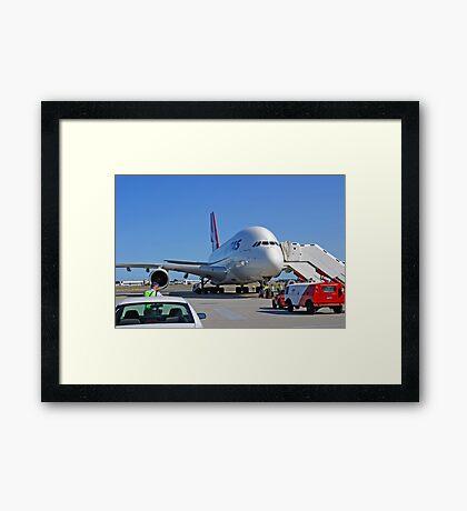 Parked A380  Framed Print