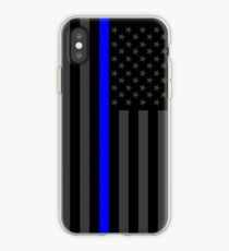 The Symbolic Thin Blue Line on American Flag iPhone Case