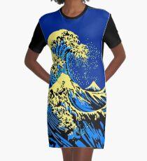 The Great Hokusai Wave Pop Art Style Graphic T-Shirt Dress