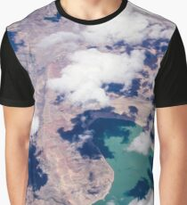 Abstract Landscape - Land, Clouds, and Water from the Air - Nature Geek Chic Graphic T-Shirt