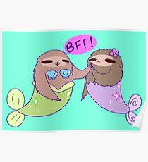 BFF! MerSloths Poster