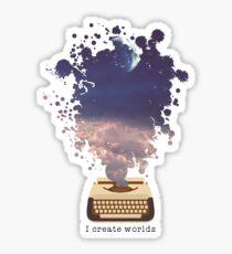 Pegatina Diseño de guionista - Creo mundos
