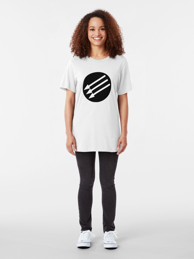 Alternate view of Antifascist Circle Slim Fit T-Shirt