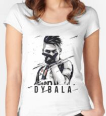 Dybala Vector Women's Fitted Scoop T-Shirt