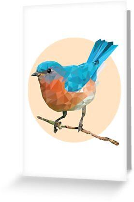 Geometric bluebird greeting cards by courtney zeitler redbubble geometric bluebird by courtney zeitler m4hsunfo