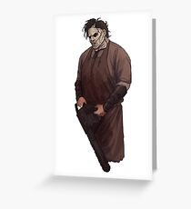 Leatherface sticker Greeting Card
