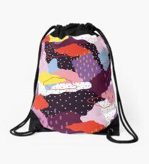 Purple Winter Drawstring Bag