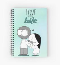 Love At First Bite Spiral Notebook