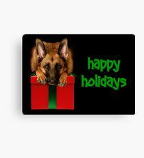 GSD Happy Holidays Canvas Print